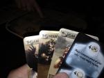 3 kort pluss et utgjevningskort.