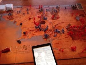Oppsettet stod klart på iPad med reviderte regler.