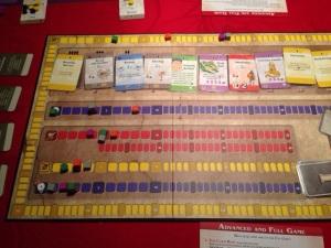 Alle markørene viser hvor mange poeng hver spiller tjener hver runde.