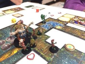 Scenario 2: Vognen med ofrene sank ned i sumpen og seier til overlorden.