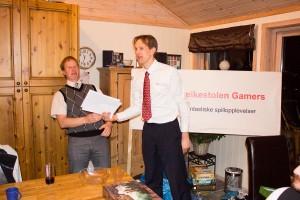 Alltid underholdning med Hollender og Sveinmain. Mange flotte Awards også i år.