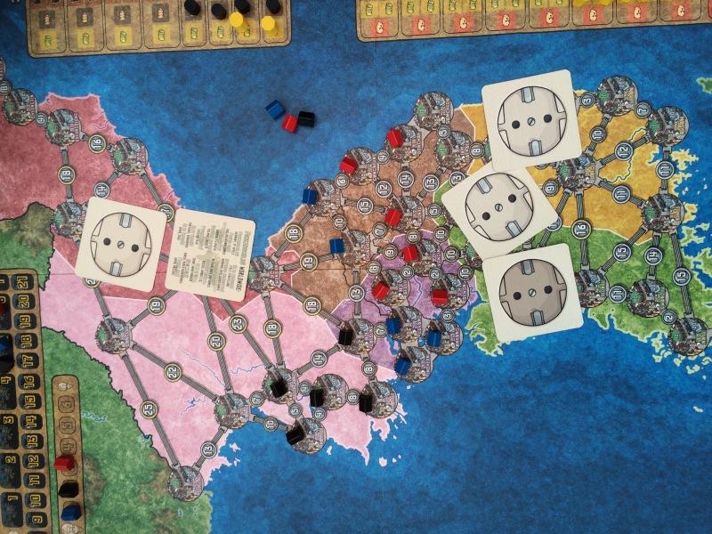 Lite område ble brukt med 3 spillere.