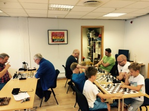 Hele 10 spillere på åpning av PG-sjakken!