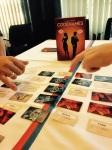 Eget Codenames bord med tape i riktig farger på bordet - imponerende