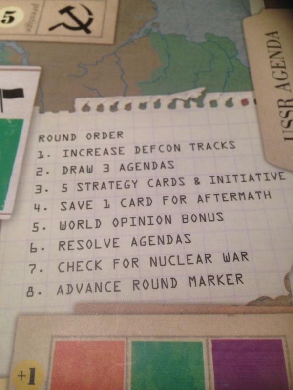 8 faser i spillet fint beskrevet på spillebrettet!