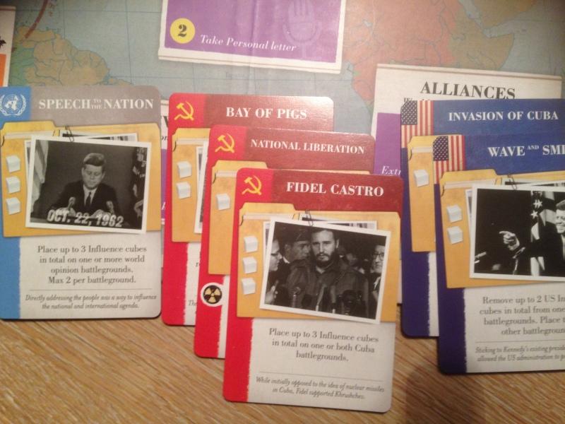 USA kan spille USSR-kort i aftermatchen, men det hjelper bare motspilleren, men da unngår en at USSR får utføre handlingen på kortet...