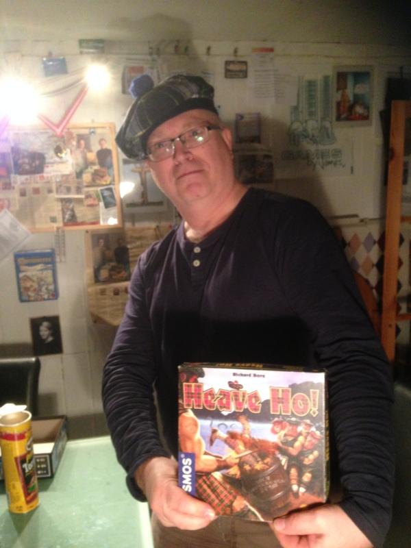 Peter Glenfiddich - vinner av tautrekkingskonkurransen.