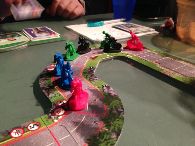 Mye harde dueller i Flamme Rouge - godt likt av samtlige!