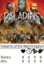 Ratingen til Takras og Afro over Paladins of the West Kingdom