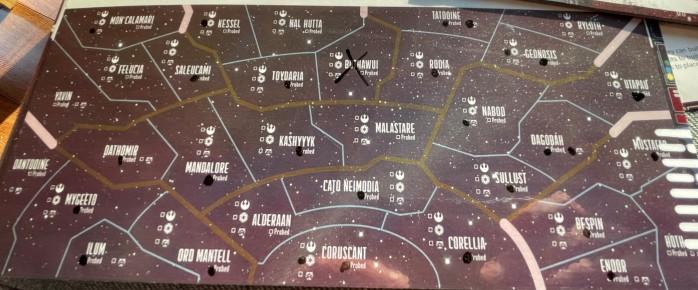 Lite kart over galaksen for at Takras kan holde oversikt.